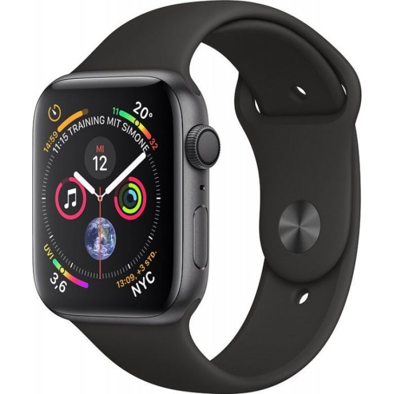 Apple Watch series 4 (GPS) 44mm Space Grey Aluminium Case with Black Sport  Band 078564d8484