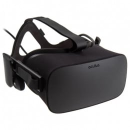 Oculus Rift Virtual Reality Headset, with Headphones, Mic, Sensor + Controller for Mind Blowing VR